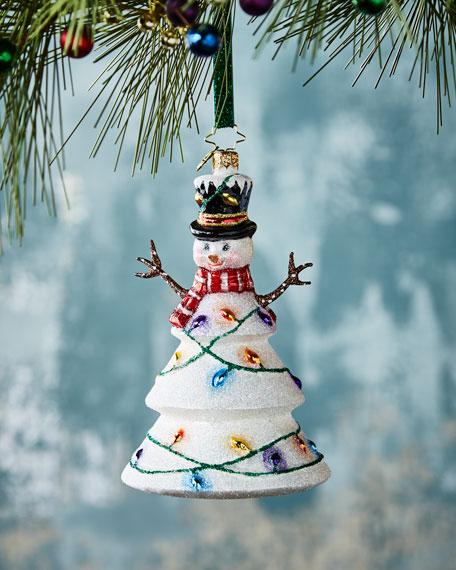 - Christopher Radko Northern Lights Snowman Christmas Ornament