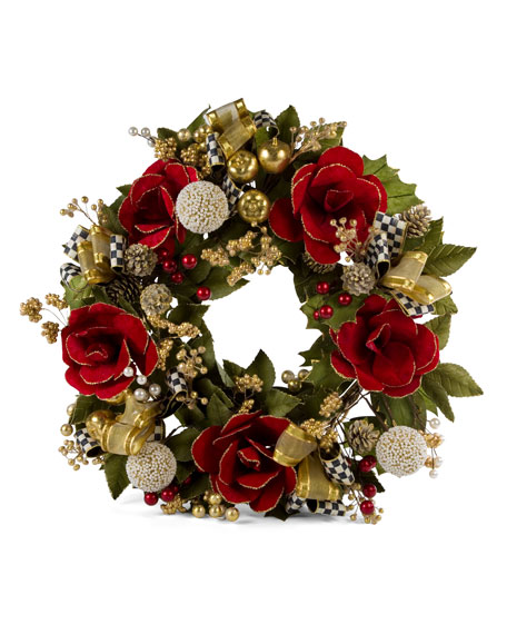 Garnet Magnolia Large Wreath, 26""