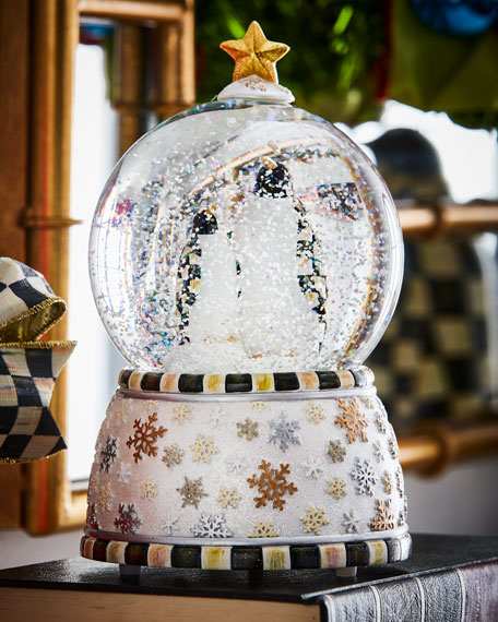 MacKenzie-Childs Penguin Snow Globe