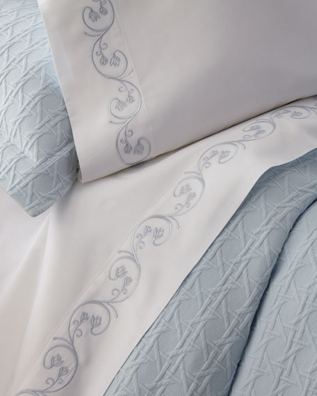 SFERRA Cassy Pima Cotton Sheet Set, Queen