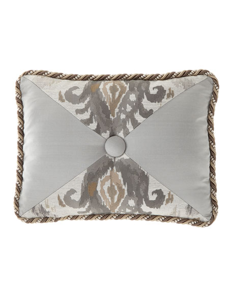 Carte Le Blanche Pieced Oblong Pillow with Center Button