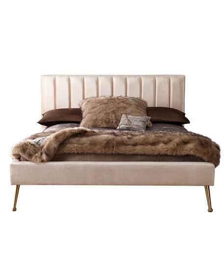 DeAngelo Full Platform Bed with Metal Legs