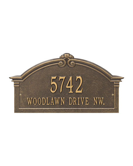Personalized Roselyn Arch Address Plaque