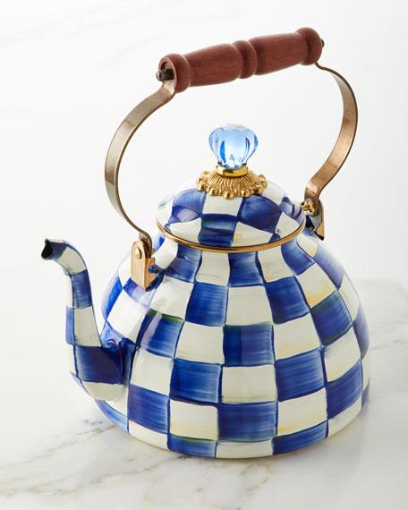 MacKenzie-Childs Royal Check Tea Kettle
