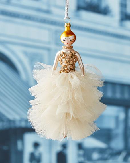 De Carlini Allyson Tulle Gown Ornament