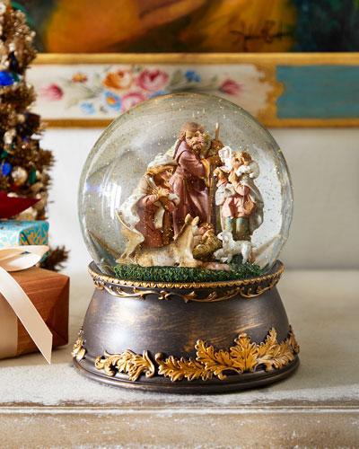 Snow Globe with Nativity Scene