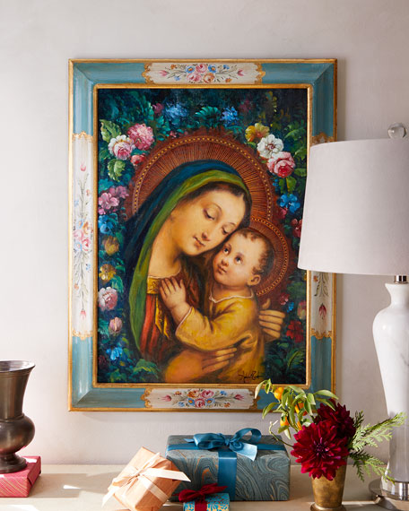 Madonna with Child in Square Frame