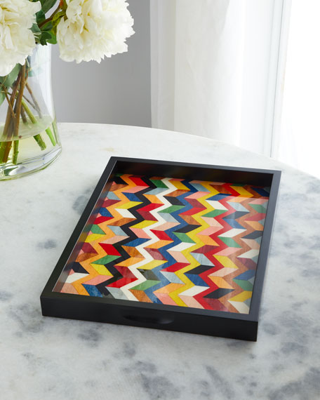 Barile Biagio Inlaid Wood Tray