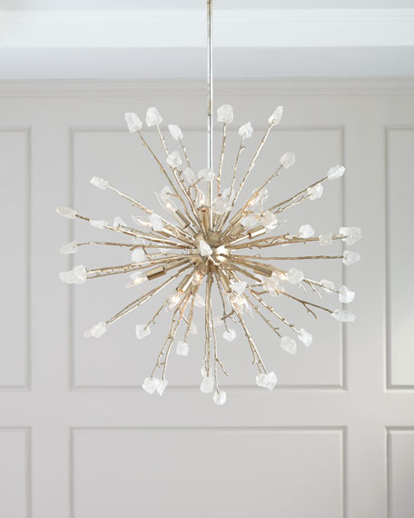 16-Light Spherical Quartz Pendant Light