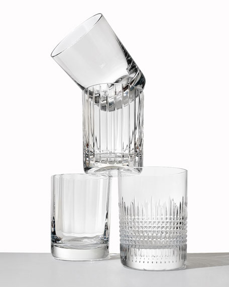 Baccarat Four Elements Triple Old Fashion Tumblers, Set