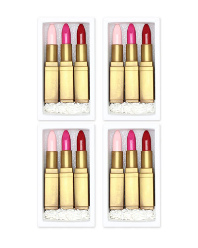 Lipstick Trio Chocolate Gift Boxes  Set of 4