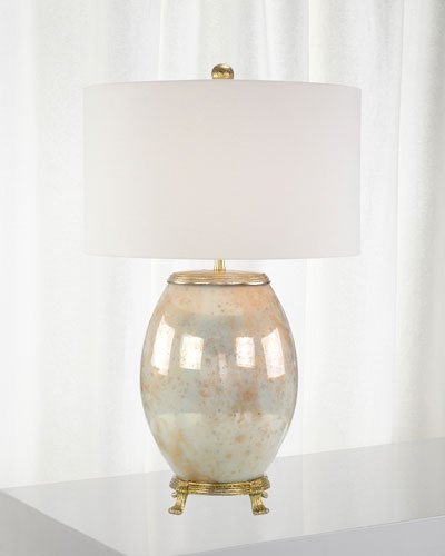 Melded White & Brass Lamp