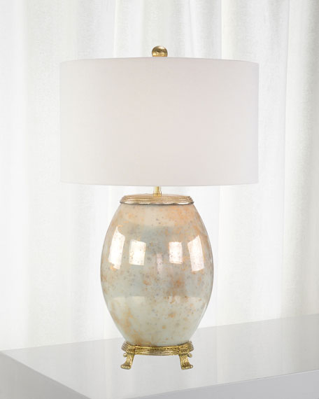John-Richard Collection Melded White & Brass Lamp