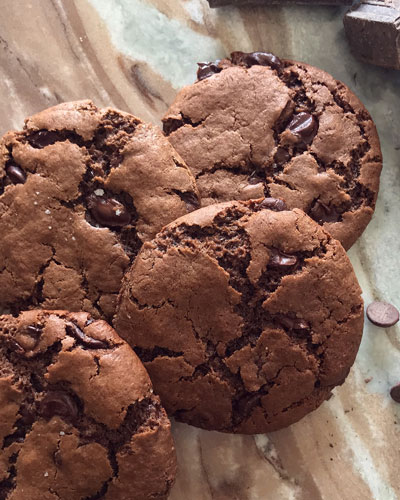 Vegan Triple Chocolate Chunk Cookies  8-Pack