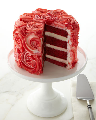 Red Velvet Rose Cake  For 8-10 People