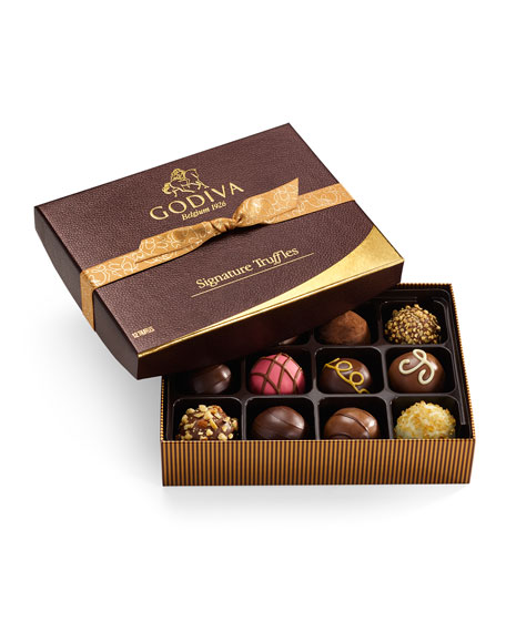 Godiva Chocolatier Signature Truffles, 12 Pieces