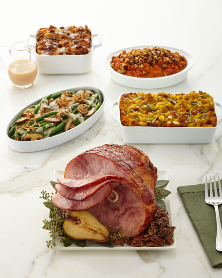 Whole Hickory-Smoked, Spiral-Sliced Ham Meal, For 11-12 People