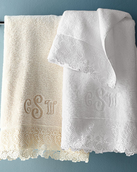 callista lace bath towel - Matouk Towels