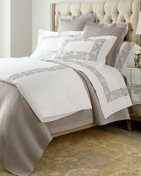 Two King 406TC Plumes Embroidered Pillowcases