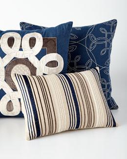 Mora Navy Pillows