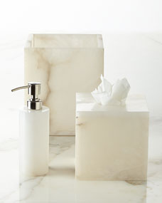 Kassatex Alabaster Vanity Accessories