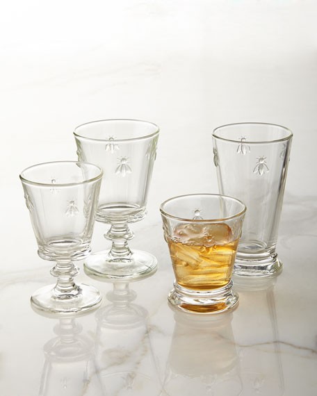 Bee Wine Glasses, Set of 6