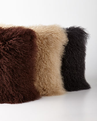 Earth-Tone Tibetan Lamb Pillows