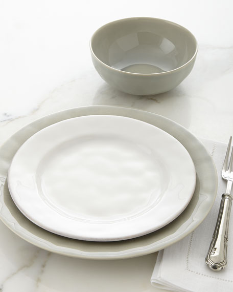 Puro Mist Grey Crackle Dessert/Salad Plate & Juliska Puro Dinnerware