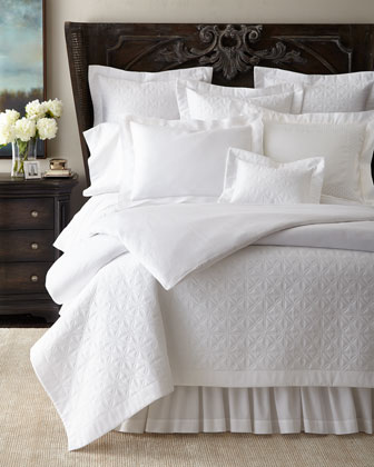 Quilted Isla, Zebra Jacquard, & Embroidered Avalon Bedding