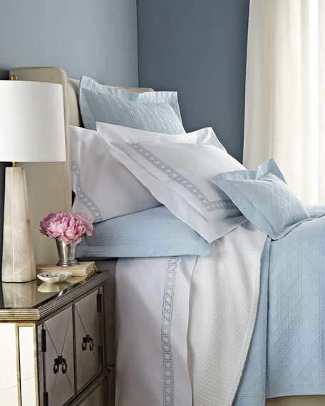 Two Standard Marcus Collection 400 Thread-Count Dot Pillowcases