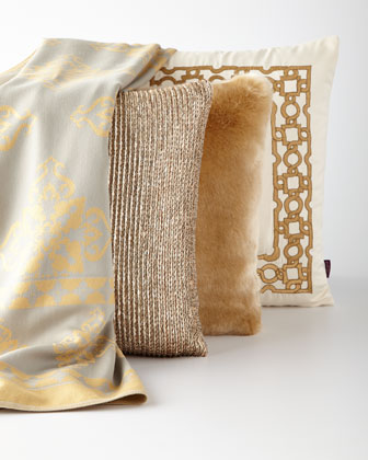 Gold Decorative Pillows and Throw
