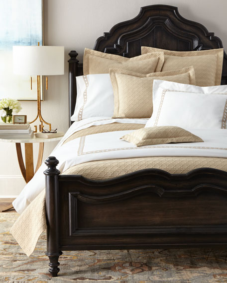 King 3-Piece Cane-Embroidered Duvet Set