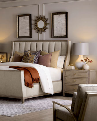 East Abbott Channel Tufted King Sleigh Bed and Matching Items