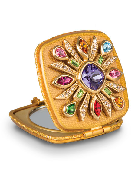 Jay Strongwater Maltese Jeweled Compact