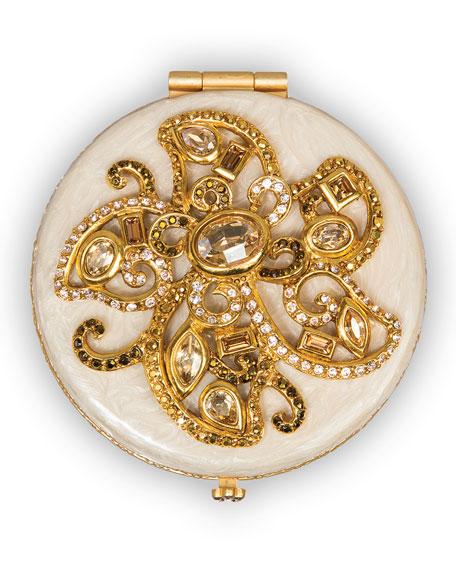 Flower Jeweled Compact