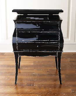 Distressed Black File Box