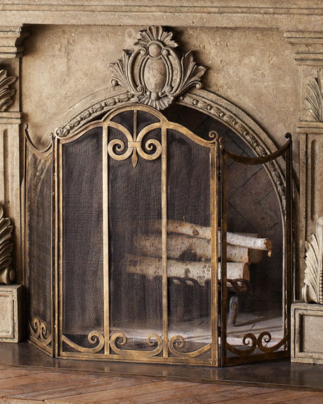 Classic Fireplace Screen Screens  Mantels Accessories Horchow