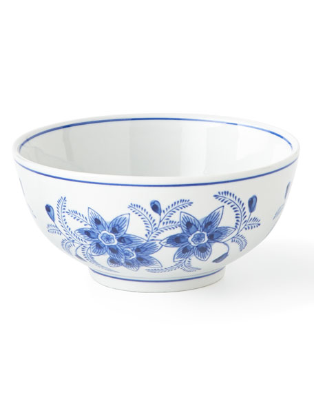 Set of 12 Assorted Blue & White Cereal Bowls