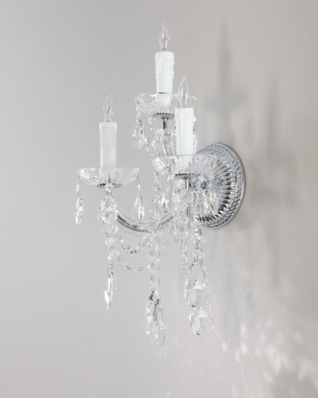 Ariana Three-Light Crystal Sconce