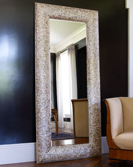 Interlude Home Mother-of-Pearl Floor Mirror
