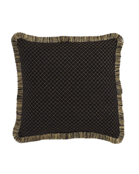 "Gustone Diamond-Pattern Pillow, 19""Sq."