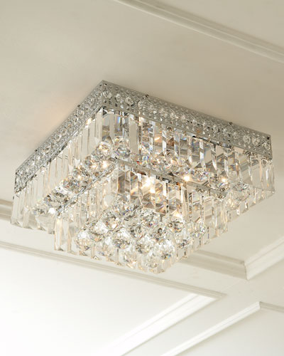 Five Light Crystal Flush Mount Ceiling Fixture
