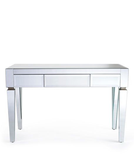 mirrored desk rh horchow com mirrored bedside tables with drawers mirrored console tables with drawers