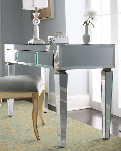 mirrored office furniture. mirrored desk office furniture e