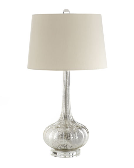 Antiqued Glass Table Lamp