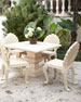 Alexandra Outdoor Urn Pedestal Table & Upholstered Chair