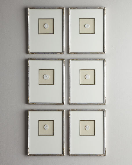 Six Small Framed Intaglios