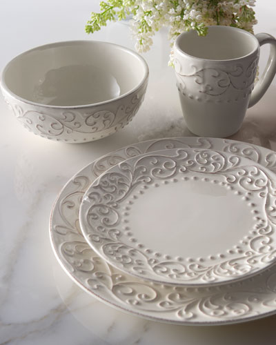 16-Piece Scroll Dinnerware Service : red scroll dinnerware - Pezcame.Com