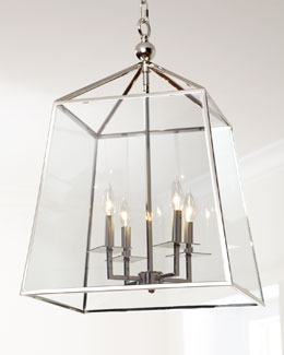 Square Four-Light Glass Lantern