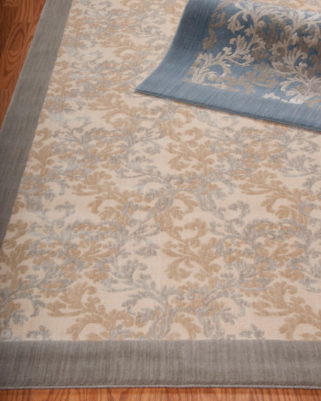 Dove Vines Flatweave Runner, 2'3